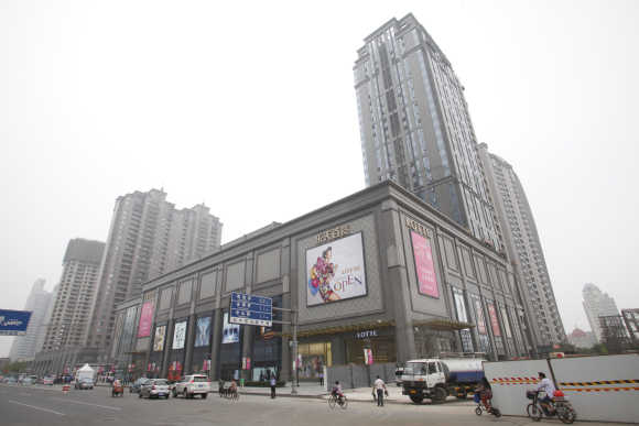 A general view of the Lotte Department Store in Tianjin, Beijing.