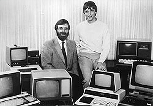 Paul Allen (left) and Bill Gates (respectively) on October 19, 1981.