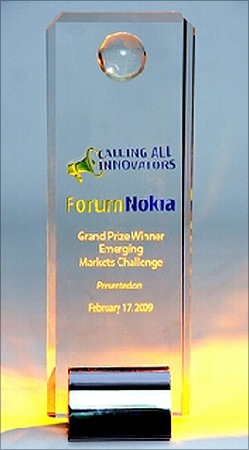 Nano Ganesh, winner of Nokia awards