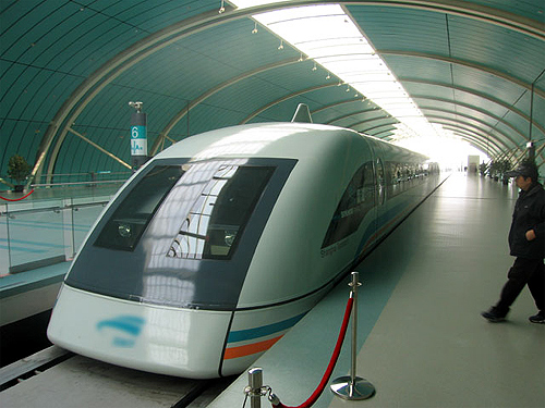 Shanghai-Hangzhou maglev project.