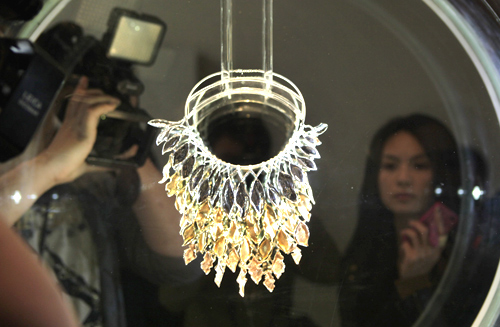 A gold necklace creation for the 3rd AuDITIONS China gold jewellery design competition.