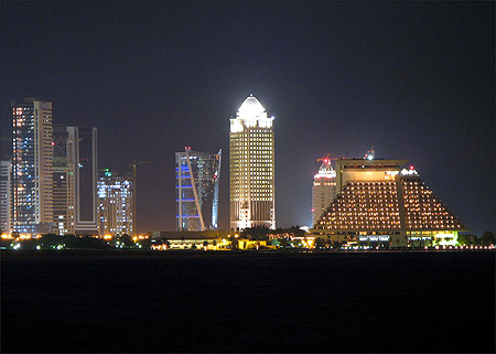 Doha, Qatar's capital city.