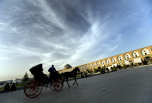 A general view of Naqsh-e Jahan square in the city of Isfahan