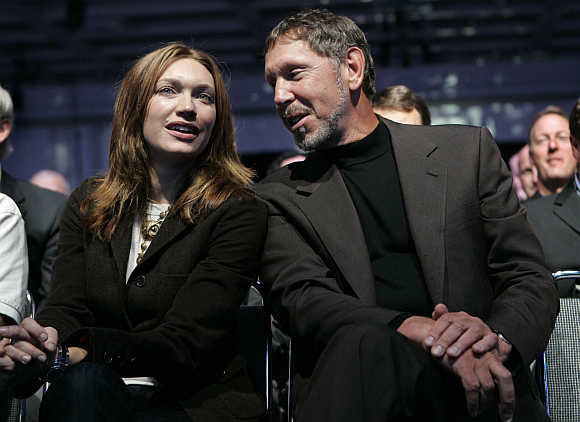 Larry Ellison with his wife Melanie.
