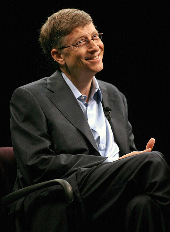 Bill Gates at the Stanford University.