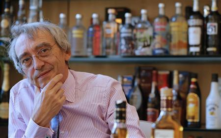 Pernod Ricard, chief executive officer, Pierre Pringuet attends an interview with Reuters at the company's headquarters in Paris.