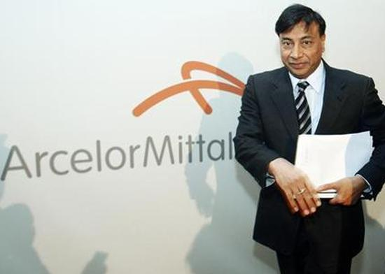 Chairman and chief executive officer Lakshmi Mittal leaves the room after presenting results of Arcelor Mittal steel group