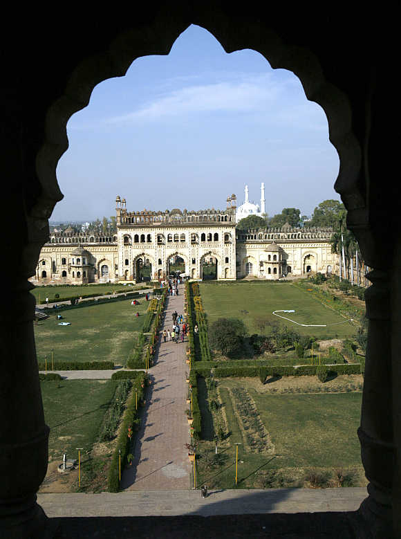 A view of Asafi Imambara, also known as Bara Imambara, in Lucknow.