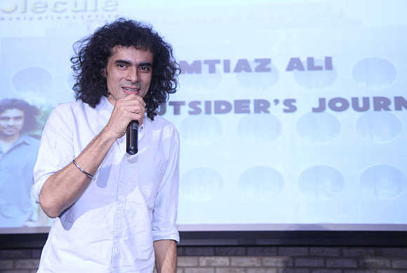 Director Imtiaz Ali speaking at the symposium.