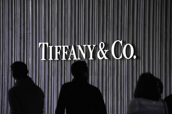 Visitors walk by a Tiffany and Company Store at Santa Monica Place in Santa Monica, California.