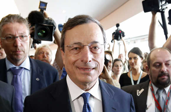 Mario Draghi in Brussels.