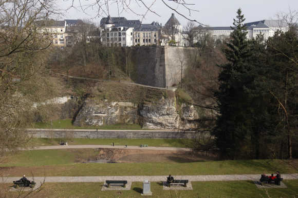 A view of the city of Luxembourg.