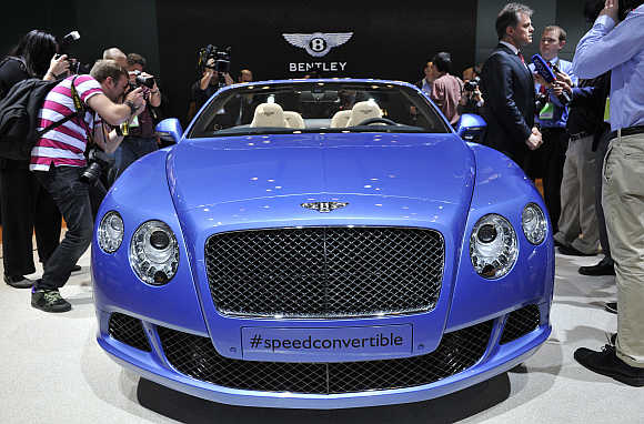 Bentley's Continental GT Speed Convertible in Detroit, Michigan, United States.