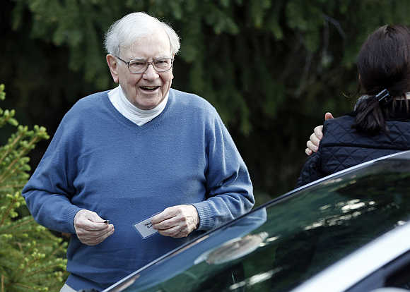 Berkshire Hathaway CEO Warren Buffett attends the Allen & Co Media Conference in Sun Valley, Idaho, United States.