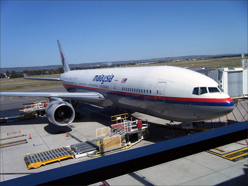 Malaysia Airlines Boeing 777 flight.