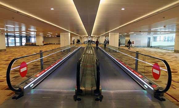 A view of T3 terminal of Indira Gandhi International Airport in New Delhi.