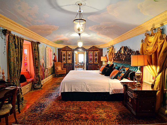 The Empire Suite at the South Beach mansion formerly owned by fashion designer Gianni Versace in Miami Beach.