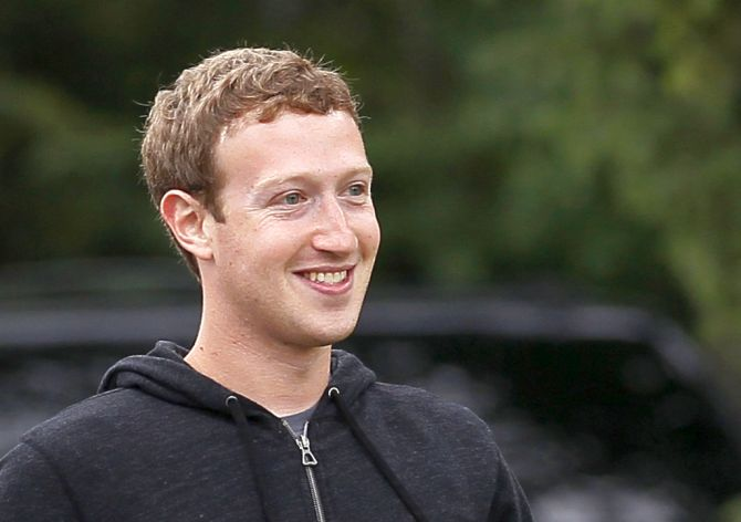 Facebook CEO Mark Zuckerberg walks at the annual Allen and Co. conference at the Sun Valley.