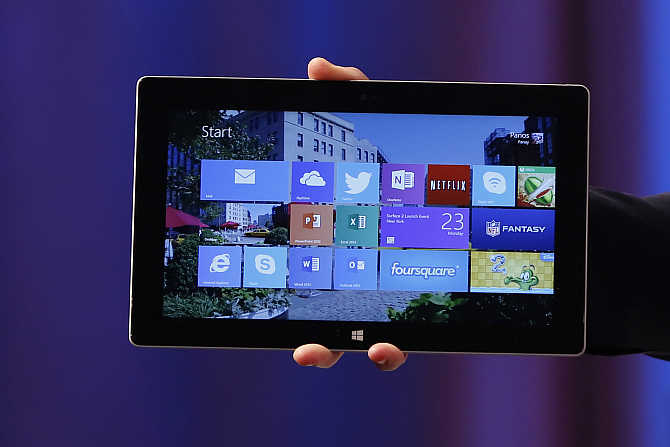 Microsoft's Surface 2 in New York.