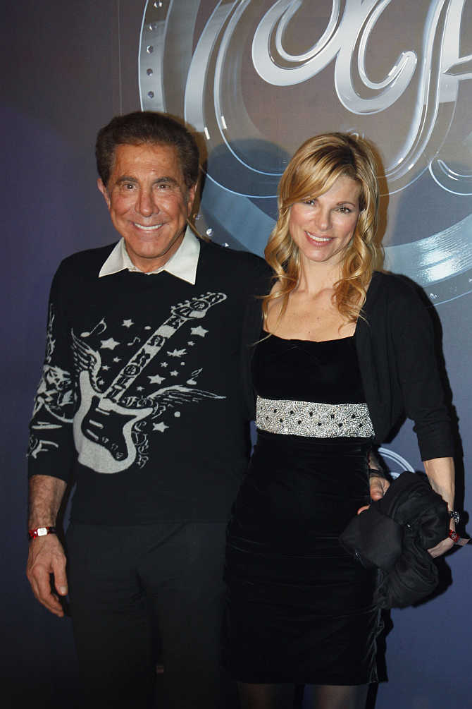Stephen Wynn with wife Andrea Hissom in Hong Kong.