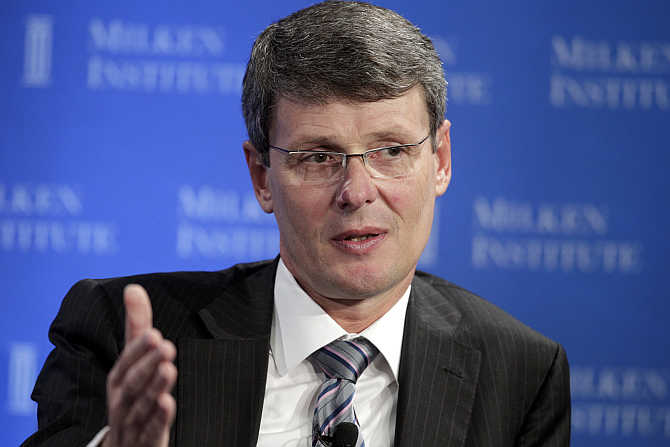 Thorsten Heins at the Milken Institute Global Conference in Beverly Hills, California.