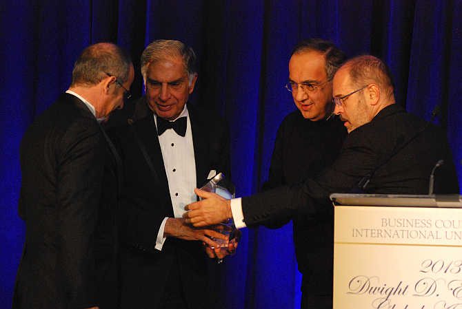 Ratan Tata was honoured not only for the impact he has had on global business but also for his values and commitment.