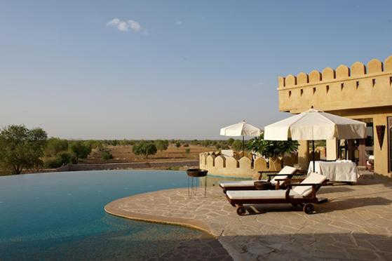 Mihir Garh hotel is around 55km south west of Jodhpur.