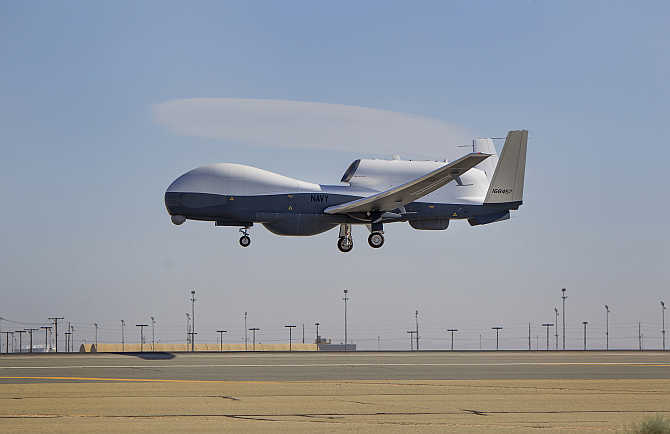 A view of Triton unmanned aircraft in Palmdale, California. Photo is for representation purpose only.