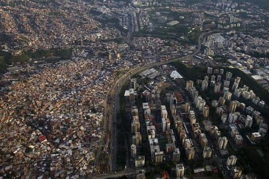 An aerial view of Caracas.