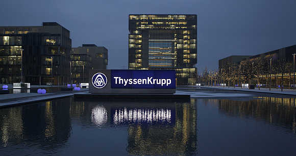 Headquarters of Germany's top steelmaker ThyssenKrupp in Essen.