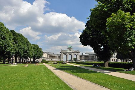 The Cinquantenaire Park, Brussels.