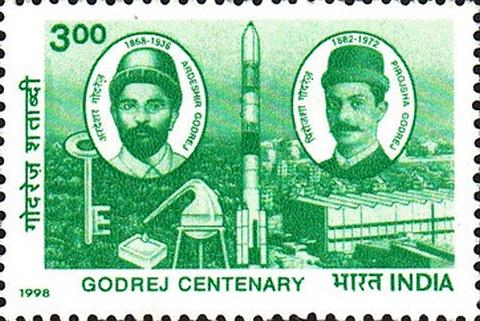 Industrialists and companies featured on postage stamps