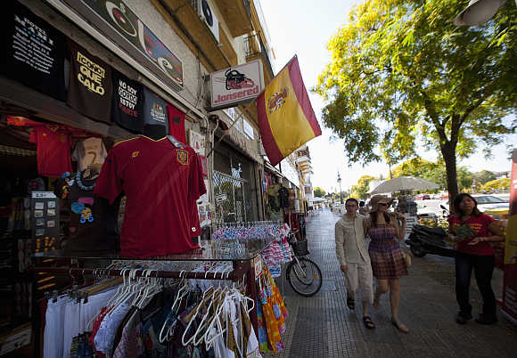 A souvenir shop in the Andalusian capital of Seville.