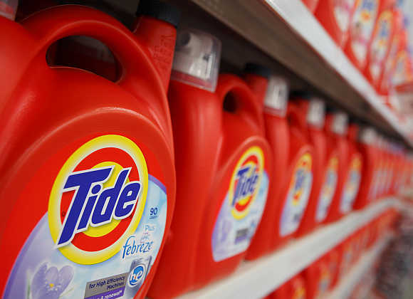 Tide on display at a Wal-Mart store in Chicago, United States.