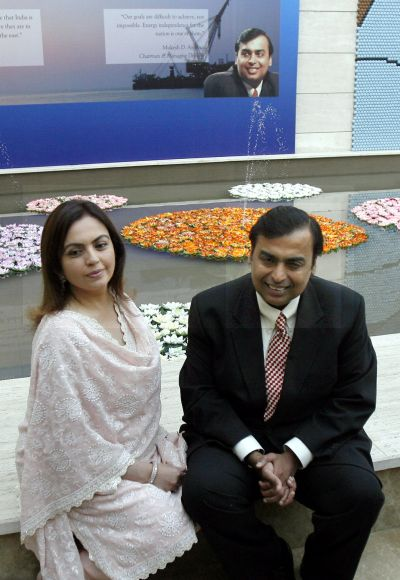 Nita and Mukesh Ambani.