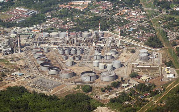An aerial photo of the refinery complex of the Shell Refining Company Bhd in Port Dickson, Malaysia. Photo is for representation purpose only.