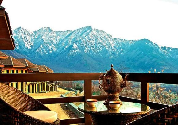 A view from Taj's Dal View Hotel in Srinagar.
