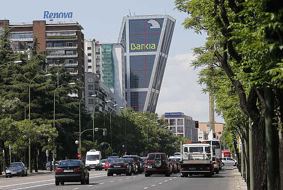 Spain's Bankia bank headquarters building in Madrid.