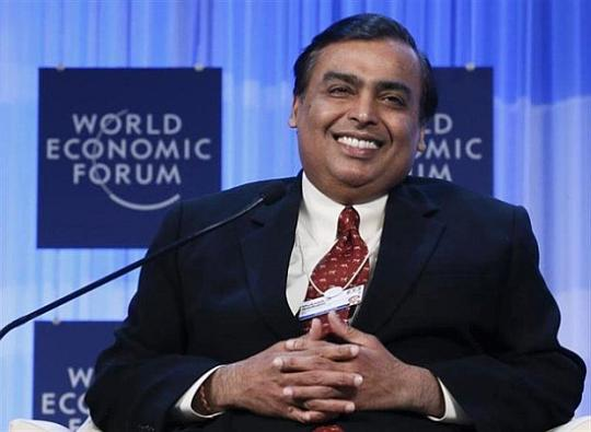 Mukesh Ambani Chairman and Managing Director of Reliance Industries.