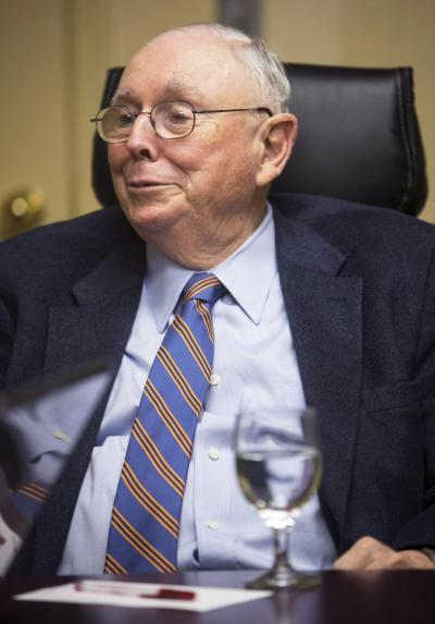 Vice-Chairman of Berkshire Hathaway Corporation Charlie Munger.