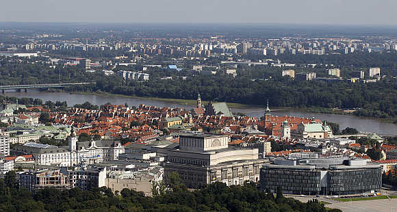 A view of Warsaw, capital of Poland.