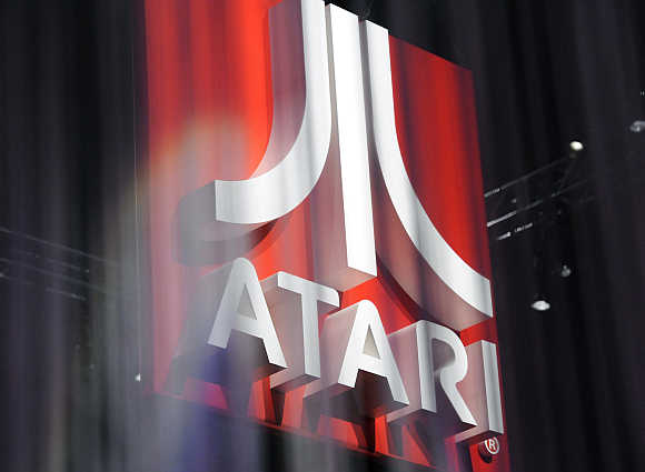 Atari booth at the Electronic Entertainment Expo in Los Angeles, California.