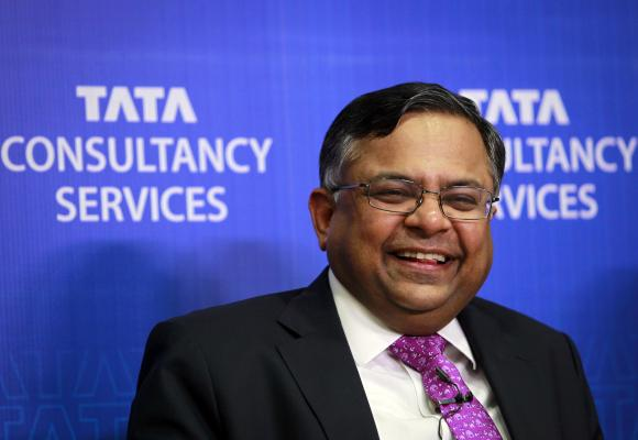 N. Chandrasekaran, chief executive officer of Tata Consultancy Services (TCS).