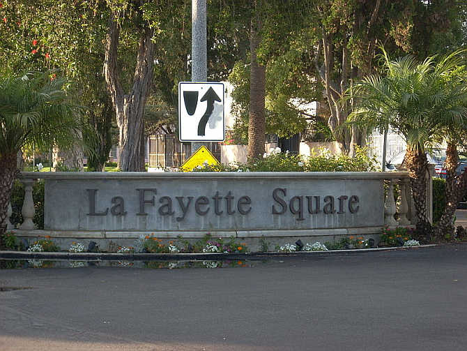 A view of Lafayette Square neighbourhood, Los Angeles, United States.