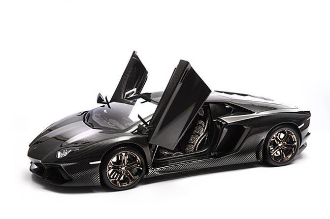 The prototype of Lamborghini Aventador.
