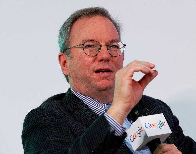 Eric Schmidt speaks during a talk titled 'Connecting with the World: Empowering Young Entrepreneurs for the New Digital Age' at the Chinese University of Hong Kong November 4, 2013.
