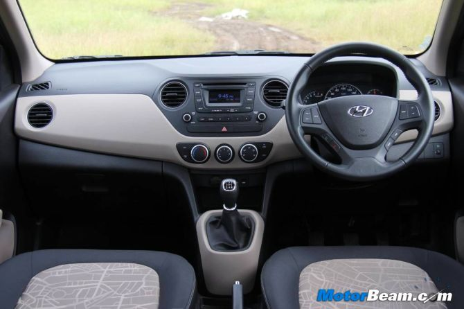 Hyundai Grand i10 interior.