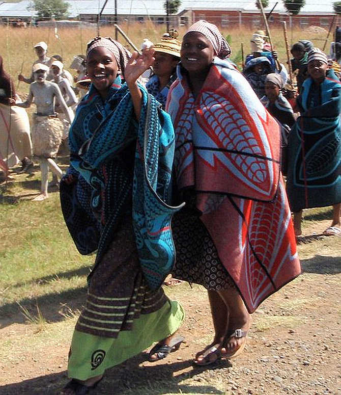 Lesotho fell two places.