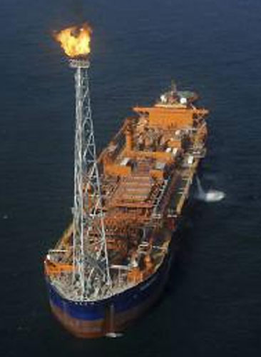 Reliance Industries' KG-D6 basin off east coast of India.