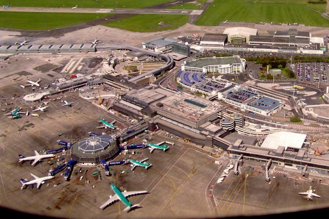 Dublin Airport from the air.